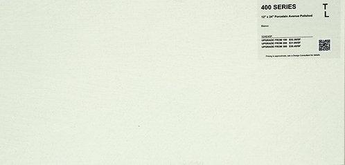 """400 Porcelain avenue bianco polished 12""""x 24"""""""