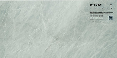 "500 Marble earth grey polished 12""x 24"""