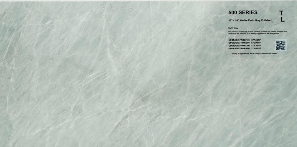 "500 Marble earth grey polished 12""x 24"""