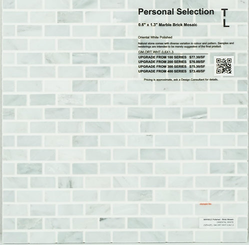 Personal Selection Marble brick mosaic oriental white polished