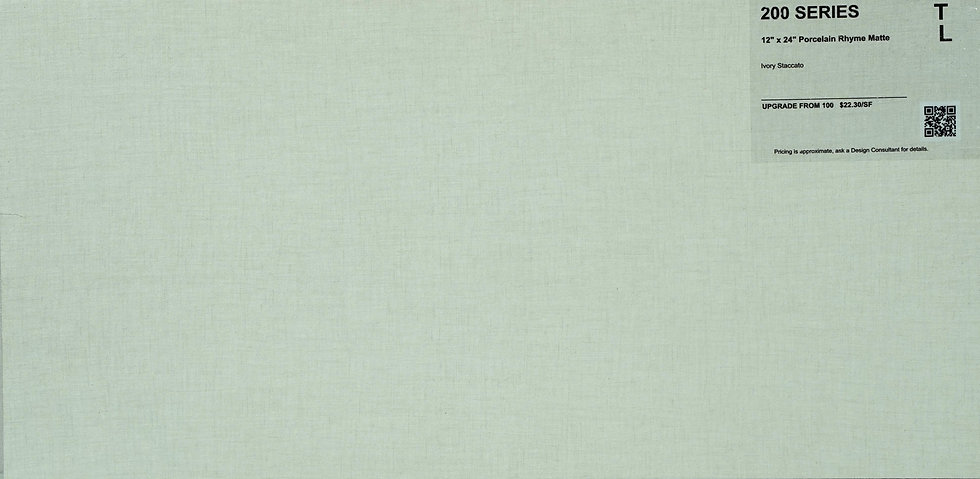 """200 Porcelain Rhyme Matte Ivory Staccato  12""""x 24"""""""