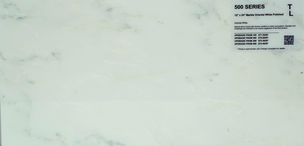 "500 Marble oriential white polished 12""x 24"""