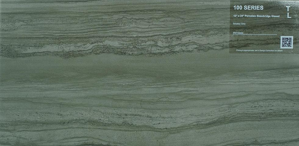 """100 Porcelain beaubridge glazed smokey grey 12""""x24"""""""