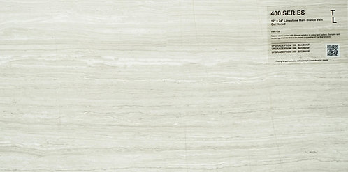 "400 Limestone Mare Bianco Honed 12"" x24"""