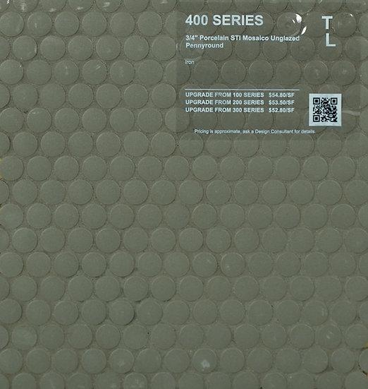 400 shower floor porcelain STI mosaico pennyround iron unglazed