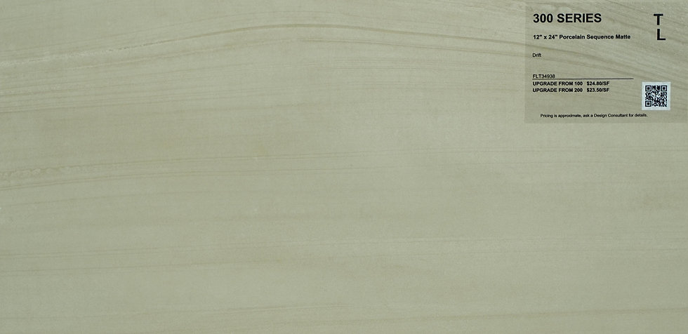 """300 Porcelain sequence matte drift 12""""x 24"""""""