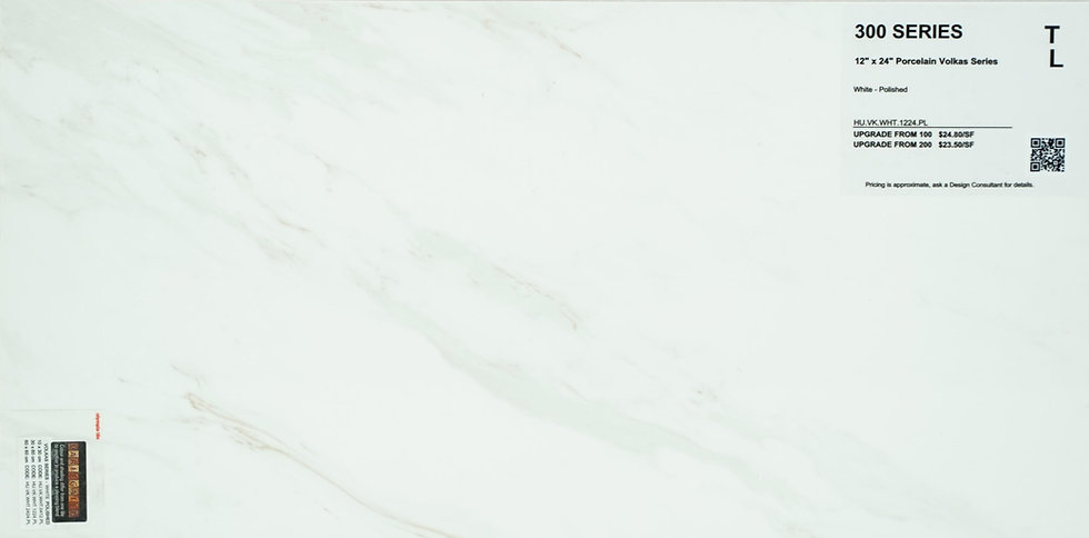 "300 Porcelain volkas white polished 12""x 24"""