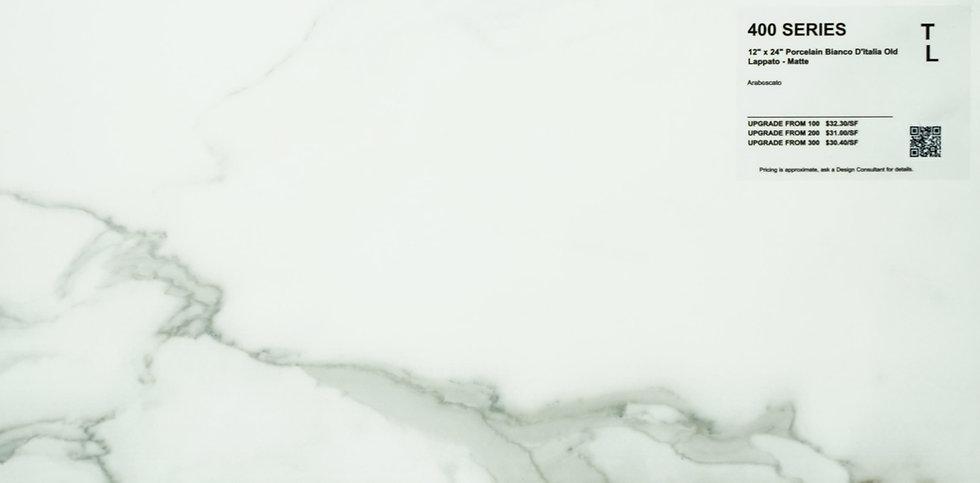 """400 Porcelain bianco di'italia matte arabescato 12""""x 24"""""""