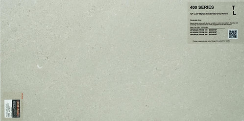 "400 Marble cinderella grey honed 12""x 24"""