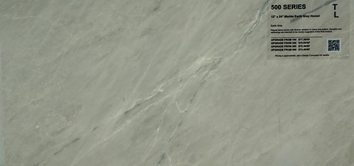 "500 Marble earth grey honed 12""x 24"""