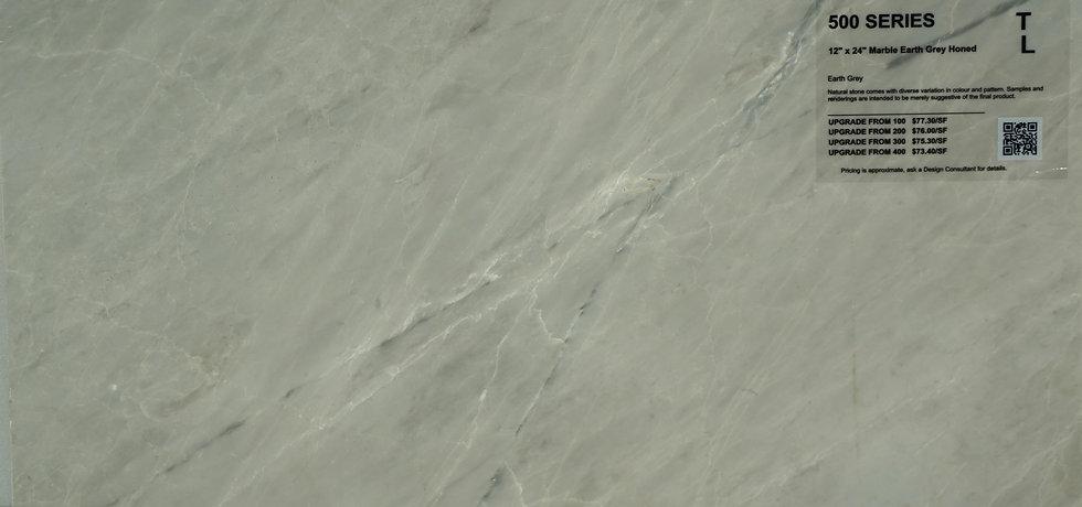 "500 Marble earth grey honed 12""x 24"""