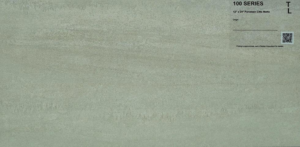 """100 Porcelain citta matte grigio 12""""x24"""""""