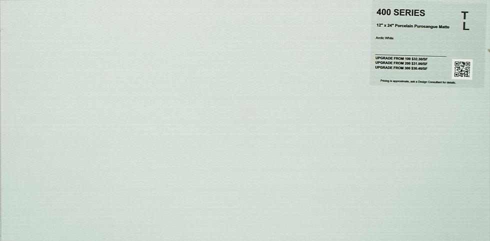"""400 Porcelain purosangue arctic white 12""""x 24"""""""
