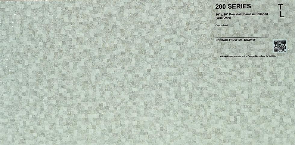 """200 Ceramic Pamesa Polished Capua Multi 10"""" x 20"""""""