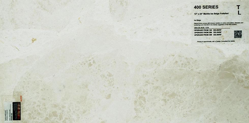 "400 Marble ice beige polished 12""x 24"""