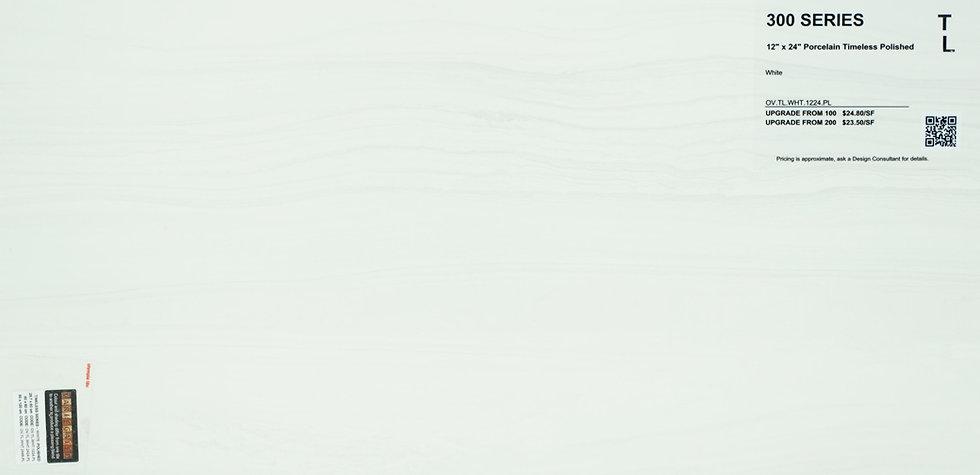 "300 Porcelain timeless polished white 12""x 24"""