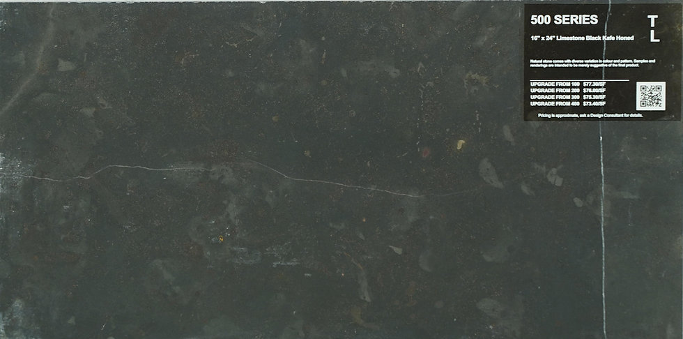 "500 Limestone black kafe Honed 16"" x 24"""