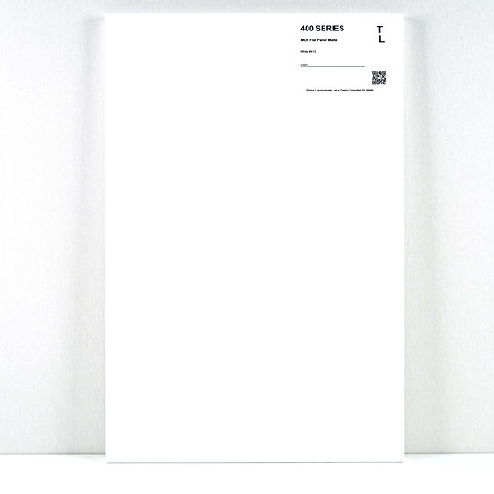400 Cabinet Flat Panel White