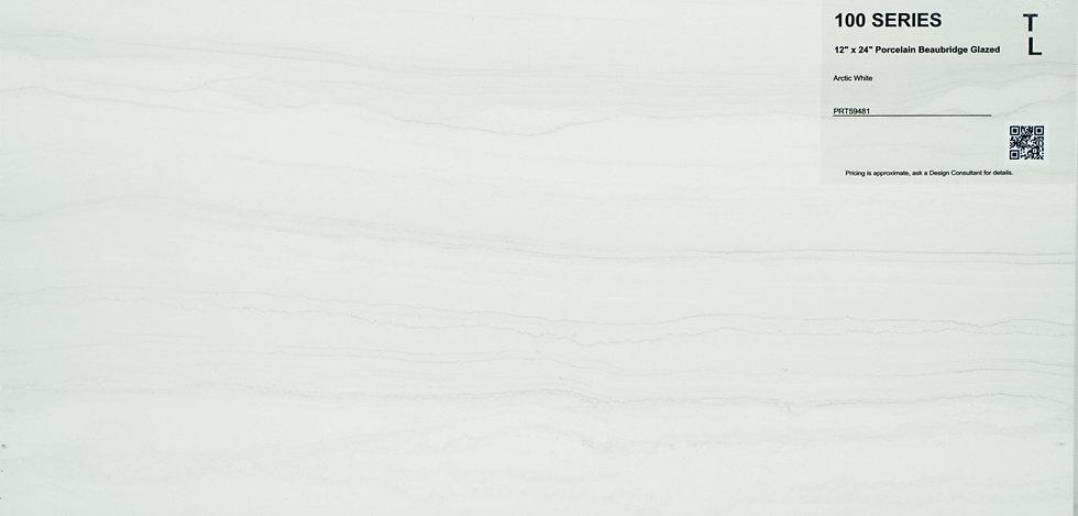 "100 Porcelain beaubridge glazed arctic white 12""x24"""