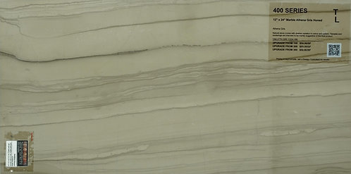 "400 Marble athena gris honed 12""x 24"""