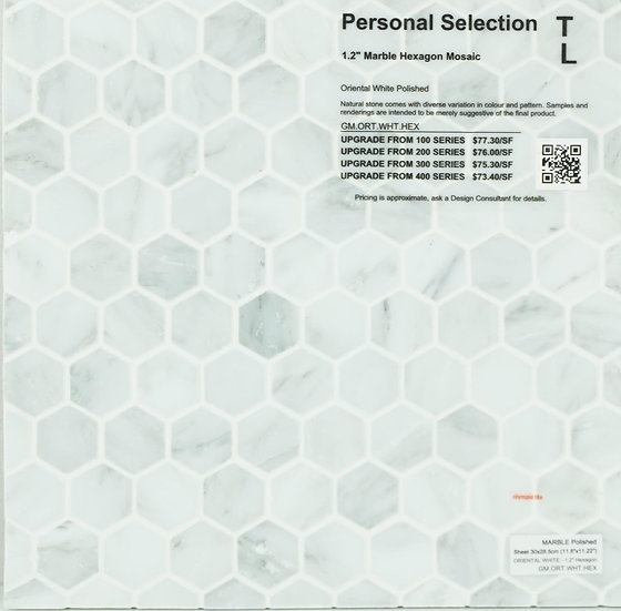 Personal Selection Marble hexagon mosaic oriental white polished