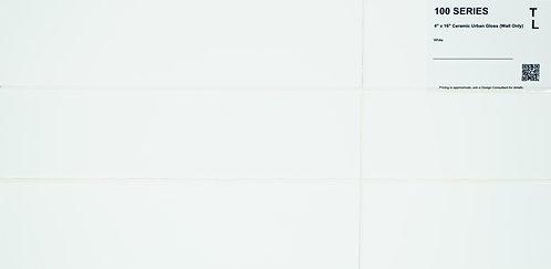 """100 Backsplash ceramic urban gloss white 4""""x 16"""""""
