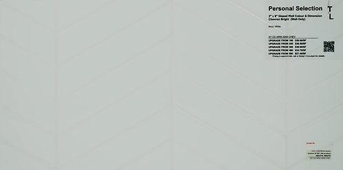 "Personal Selection ceramic glazed chevron arctic white 2"" x 9"""