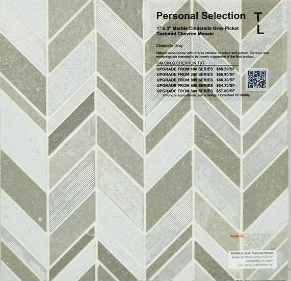 Personal Selection Marble chevron mosaic cinderella grey picket textured