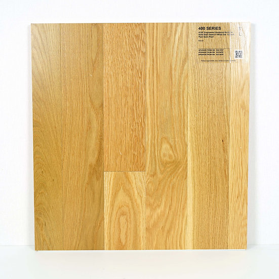 """400 Engineered 4 3/4"""" white oak Smooth Natural"""
