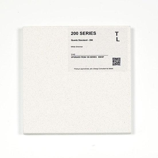 200 Quartz White Shimmer Polished