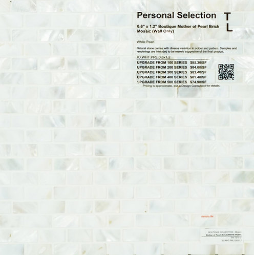 Personal Selection Boutique mother of pearl brick mosaic white pearl
