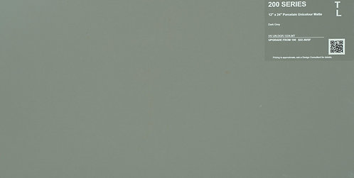 "200 Porcelain Unicolour Matte Dark Grey 12""x 24"""