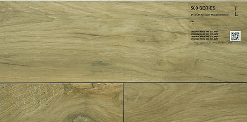"500 Porcelain woodland oak natural 8"" x 31"""