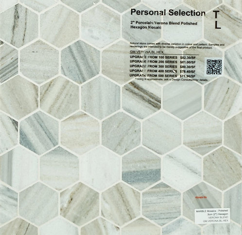 Personal Selection Marble hexagon verona blend polished