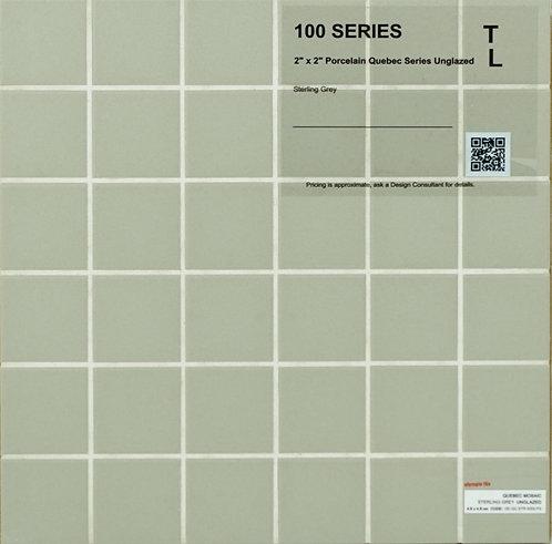 """100-300 shower floor porcelain Quebec unglazed sterling grey 2"""" x 2"""""""