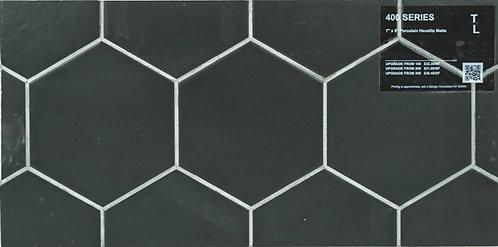 """400 Porcelain hexatile black matte 7"""" x 8"""""""