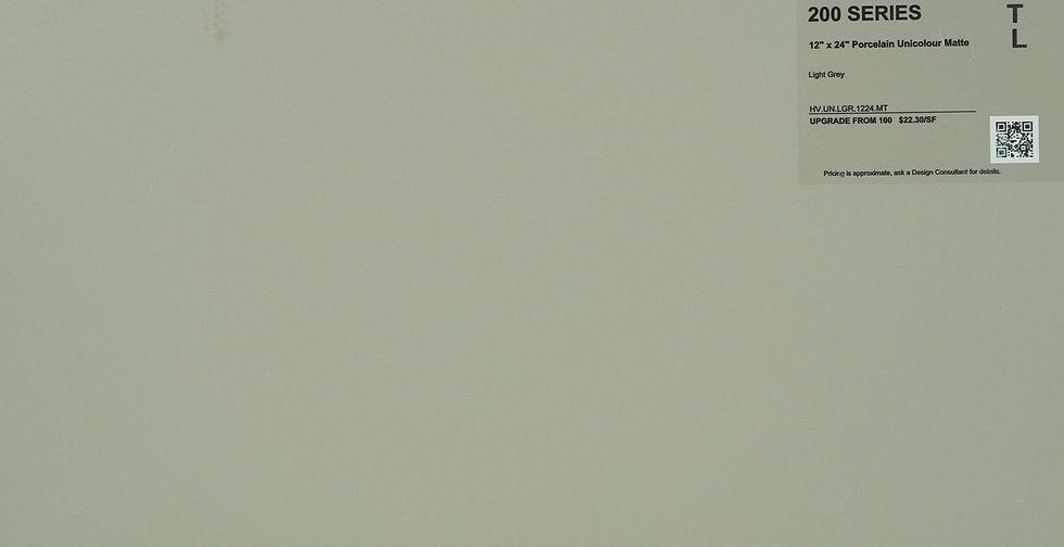 """200 Porcelain Unicolour Matte Light Grey  12""""x 24"""""""