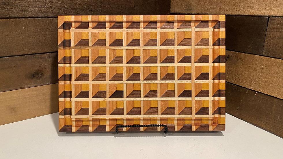 Little 3D Boxes Optical Illusion