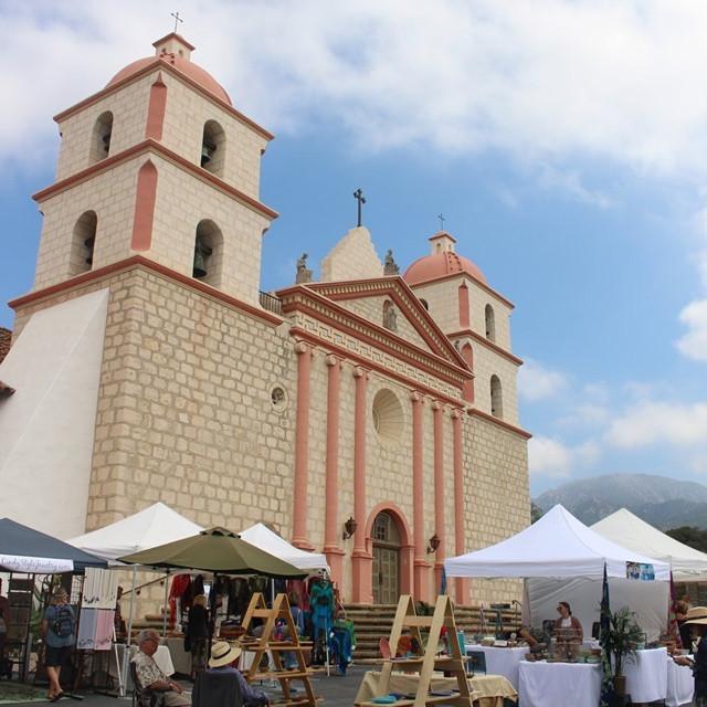 4th of July Art Show at the Old Santa Barbara Mission