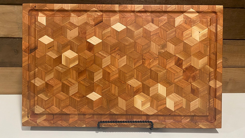 """The #351 Rhombus Cube Cutting Board 1 ¾"""" thick"""