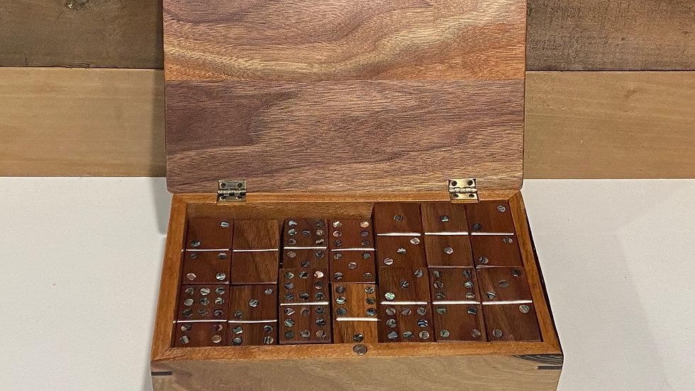 Double 9 Wooden Domino Set
