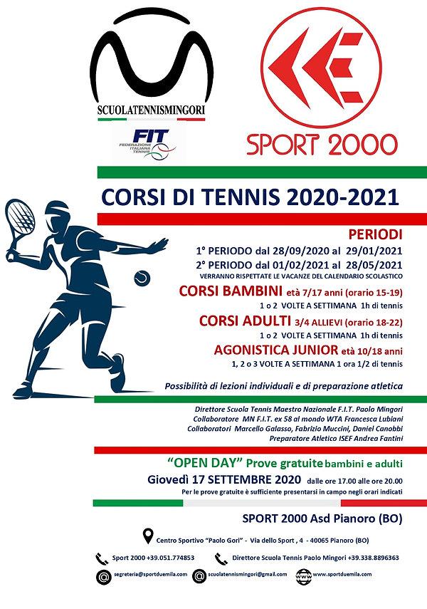 PUBBLICO-DEPLIANT SPORT 2000 TENNIS 2020