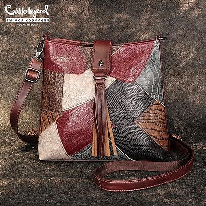 Genuine Leather Multi-Colors Shoulder Bag