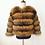 Thumbnail: Real Raccoon Fur Coat Sleeves Detachable