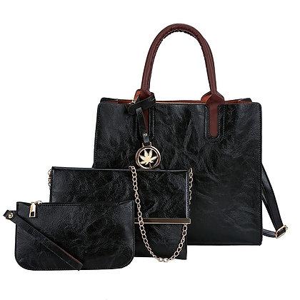 3PCS Women's Wallet & Shoulder Bag Set