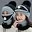 Thumbnail: Women's Knitted Hat Mask & Scarves Set