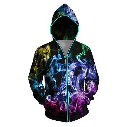 Men's Glowing Led Colorful Luminous Coat/Jacket