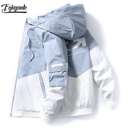 FOJAGANTO Men's Street Print Cargo Coat/Jackets