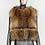 Thumbnail: Women's FURBELIEVE Real Raccoon Fur Coat W/ Removable Vest