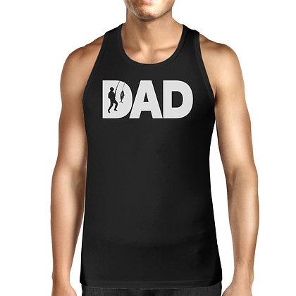 Dad Fisher Men Black Tank Top